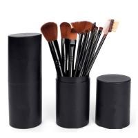 Kuas Makeup 1 set isi 12 FREE Tabung - MAKE UP BRUSH 12 SET in 1