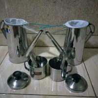 teko thai tea hemat 2 teko 2 mug 2 saringan