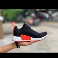 Adidas Nmd R2 Black Red Premium Original Sepatu Sport/New Adidas