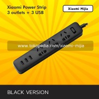 Stop Kontak Xiaomi Mi Smart Power Strip with 3 USB Port 2A - Hitam