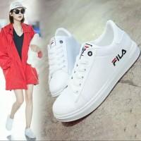 Sepatu Wanita kets Putih Cewek Sneakers olahraga FL02