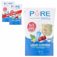 Pure Baby Liquid Cleanser 450ml Buy 2 Get 1 Free