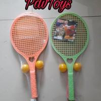 Mainan Olahraga Raket Set Bulu Tangkis Tenis Edukasi Anak