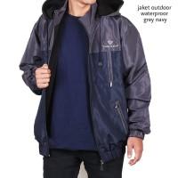 Limited Edition Jaket Parka Nike CR7 / Jaket Anti Air Ori - grey navy,