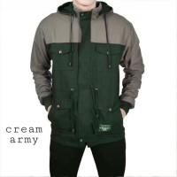 JAKET PARKA COWOK Original Premium - CREAM ARMY,