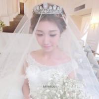 Crown Mahkota Crystal Rambut Pengantin Modern l Tiara Wedding MPM 001