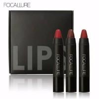 FOCALLURE Lipstik Liquid Matte Lipstick Waterproof Lips kit isi 3pcs