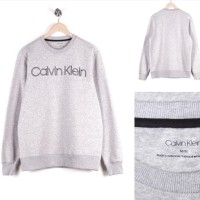 jual sweater original crewneck calvin klein grey (bukan off white)