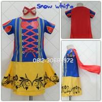 Baju Dress Kostum Girl Karakter Princess SNOW WHITE 3-9 Tahun