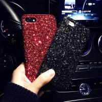 Dijual Casing Kristal Merah Hitam Case iPhone 6 6s 7 8 plus X Diskon