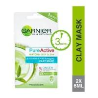 Garnier Skin Natural Pure Active Clay Mask [6ml x2s]