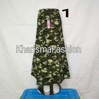 Rok susun anak motif loreng/army Ukr 1,S, M, L bhn katun streach murah