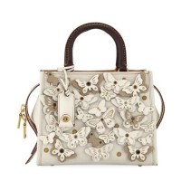 PO 24/12/18 - Coach Rogue 25 With Butterfly Applique Chalk