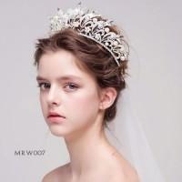 Aksesoris Mahkota Pesta Pengantin Modern l Crown Royal Wedding-MRW 007