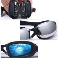 Kacamata Renang Miopi Minus 2 - 8 Profesional Anti Fog Embun