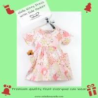 Dress Anak Hello Kitty with Side Pocket
