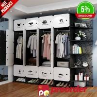 Sederhana Wardrobe Assembly Plastik Wardrobe Bedroom Locker Lemari
