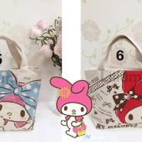Jual Canvas Bag - Tote Bag Hello Kitty - My melody - tas kanvas Kec