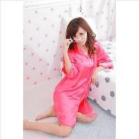 Jual Daster Kemeja Satin Dress / Baju Tidur Kancing Depan ( Daster