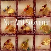 Dijual Souvenir Bros Jilbab Lafat Emas Murah