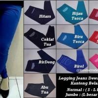 Limited Legging Jeans Dewasa POLOS Normal Kantong - Celana Panjang