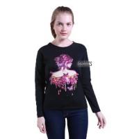 Diskon Kaos Lengan Panjang Wanita Bodygirl - Pink