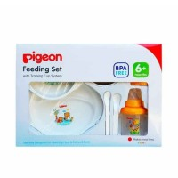 Pigeon Feeding Set with Training Cup System [Besar]