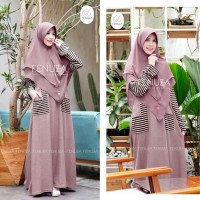Tazkia Stripe Dhikr batch 2 by Fenuza / Caramel / Gamis Casual
