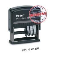 Stempel Expired / stempel Kadaluarsa dengan tinta khusus plastik