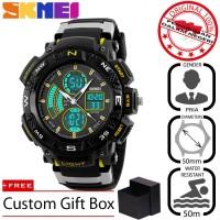 Jam Tangan Pria SKMEI Sport Analog LED Watch Water Resist 50m - 1211 - Kuning