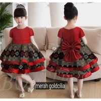 dress anak/gaun pesta batik/kids 1-5thn/ulang tahun/wisuda/kondangan
