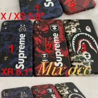 SUPREME BAPE CASE IPHONE x / xs / xs max / xr casing iphone - MERAH X ATAU XS