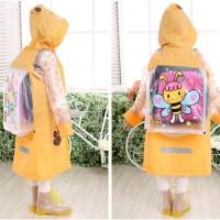 [ kids ] Jas Hujan Anak motif YELLOW BEE KUMBANG Dengan ruang ransel