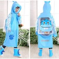 [ kids ] Jas Hujan Anak motif BLUE KUDA NIL Dengan ruang ransel