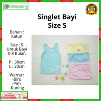 Kaos dalam bayi / singlet bayi warna / kaos dalam anak size S