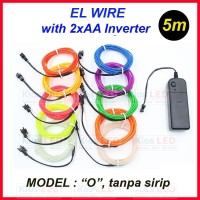 5 meter EL Wire Flexible Neon LED with AA Battery Inverter