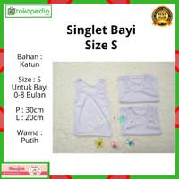 Kaos Dalam Bayi / Singlet Bayi Putih / Kaos Dalam Anak size S