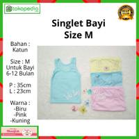 Kaos Dalam Bayi / Singlet Bayi Warna / Kaos Dalam Anak size M