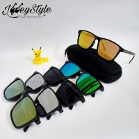 Kacamata Sunglasses Flat Kotak Pria dan Wanita
