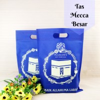 Tas Souvenir Besar Bahan Kain Spunbond/Goodie Bag Oleh Oleh Haji Umroh
