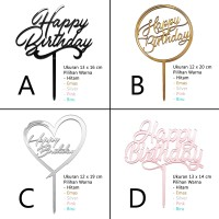 Cake Topper / Topper Kue Ulang Tahun - Happy Birthday - Akrilik