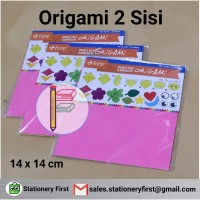 Origami Kertas Lipat Forte 2 sisi Double Side 14 x 14 cm