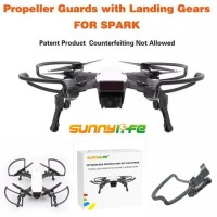 Dji spark propeller guard foldable landing gear sunnylife
