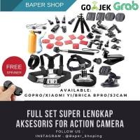 Aksesoris Lengkap Full Set For Action Cam Xiaomi Yi Gopro Brica Sjcam