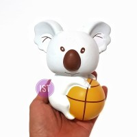 Squishy Jumbo Koala With Basket Ball Original Premium