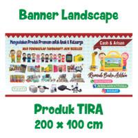 Banner Landscape TIRA Uk. 2meter x 1meter