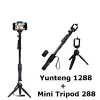 BIG SALE! Paket Komplit Tongsis Tongkat Selfi Stick Yunteng 1288 Murah
