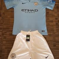 Jersey Manchester City Home Set 2018/19 (Baju & Celana)