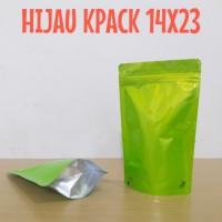 pouch hijau full aumunium foil 500gr