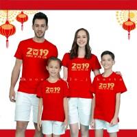 (NEW) KAOS IMLEK GONG XI FA CAI 2019 / BEST SELLER Kaos couple family